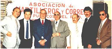 Algunos fundadores de la  Asociación Martilleros de 3 de Febrero